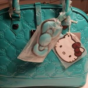 NWT Loungefly Hello Kitty turquoise Tote Bag